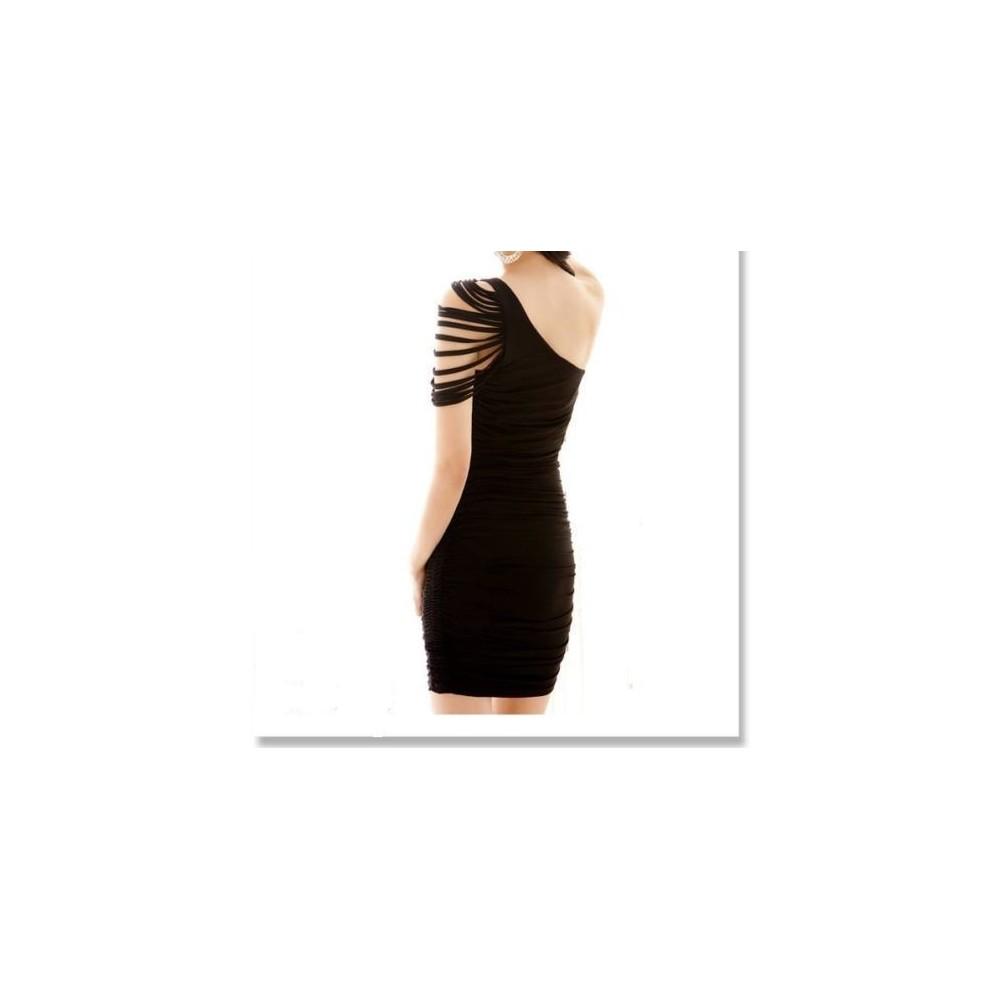 Robe de soirée - épaule découverte - effet de soie - Mod. Tiffany