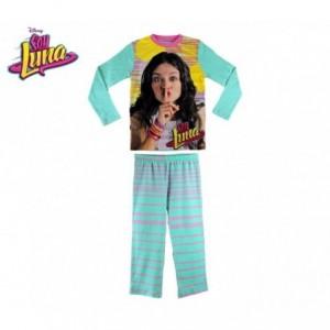 826329 Pyjama enfant pour fille imprimé Soy Luna en coton chaud de 6 à 12 ans