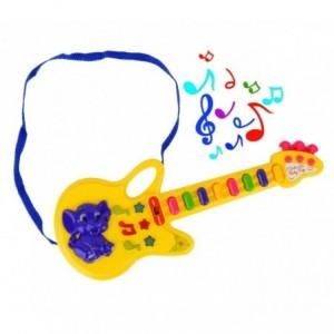 103855 Guitare Baby Pop avec des lumières, mélodies préréglées et bandoulière
