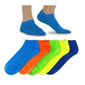 N803 Pack de 12 paires de soquettes Homme fluo en coton en plusieurs couleurs