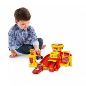 103623 Playset Caserne de pompiers garage 3 auto avec accessoires et autocollant