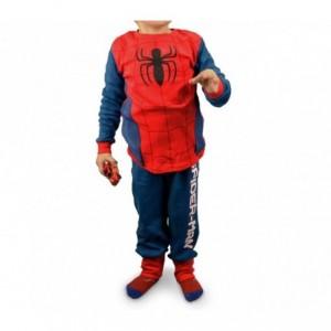 1720 Pyjama enfant imprimé Spiderman en polaire chaude de 4 à 8 ans