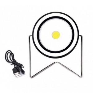 RY-T912 Projecteur LED rechargeable rond portable à énergie solaire 10 W USB