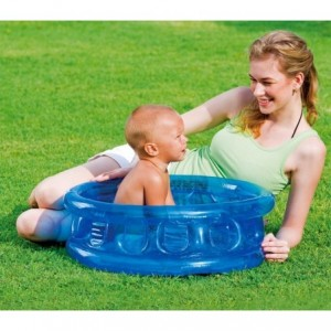 51112 Piscine gonflable enfant Bestway 3 couleurs 64 x 25 cm plancher gonflable