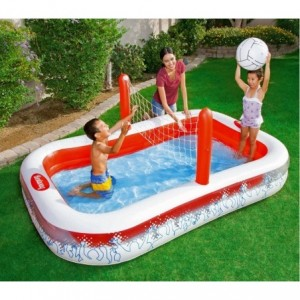54125 Piscine gonflable Volleyball pour enfants avec filet Bestway 253x168x97 cm