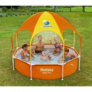 56432 Piscine Play Splash-In-Shade Bestway avec belvédère et douche 244x51 cm