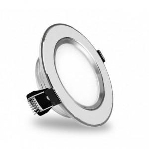 685631 Projecteur LED encastré rond chromé 9 Watt lumière froide avec verre mat