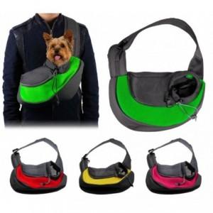 390205 Sac de transport bandoulière idéal pour les chiots et les petits chiens