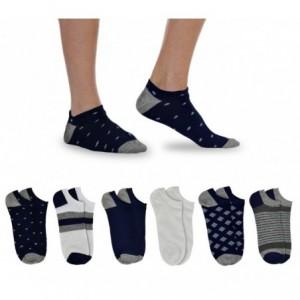 Pack de 12 paires de socquettes pour hommes mod. GEOMETRIC taille unique 40/46