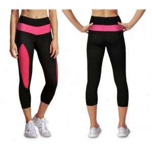 Leggings de sport KZ-178 femmes tissu technique gym et running longueur mollets