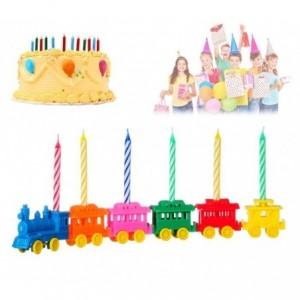565111 Set de portes bougies en forme de train 6 pièces bougies incluses