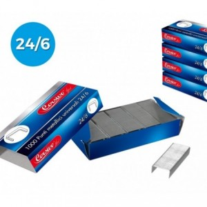 725257 Set de 10 paquets de 1000 agrafes universelles CORSIVO 24/6
