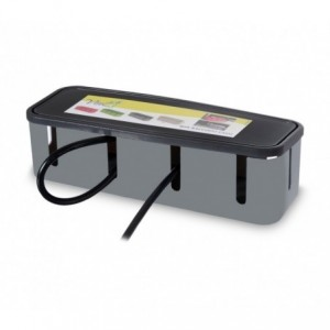 703422 Box de rangement de multiprise de bureau en plastique dur 27x7,5x7,5cm