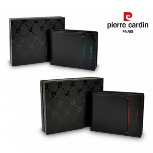 Portefeuille pour hommes 8866 TILAK07 en cuir PIERRE CARDIN avec portemonnaie