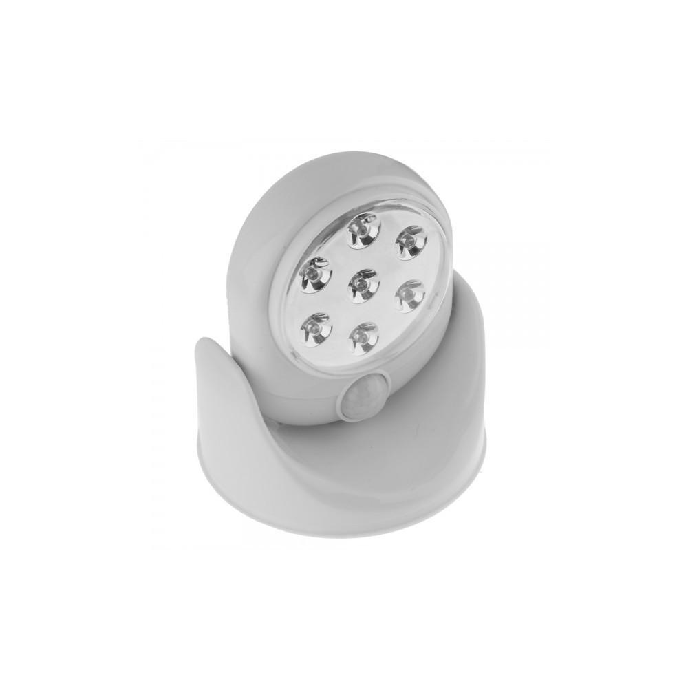 lumi re lampe capteur de mouvement de rotation 7 led. Black Bedroom Furniture Sets. Home Design Ideas