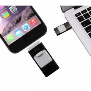 Clef USB 3 en 1 connecteurs ligntning micro usb 32Go flash drive storage