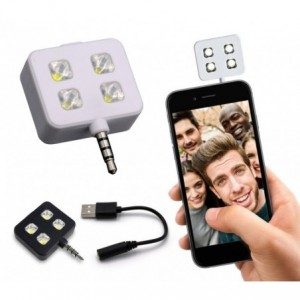 221791 Mini Flash à 4 LED pour selfies compatibles avec Samsung et Apple