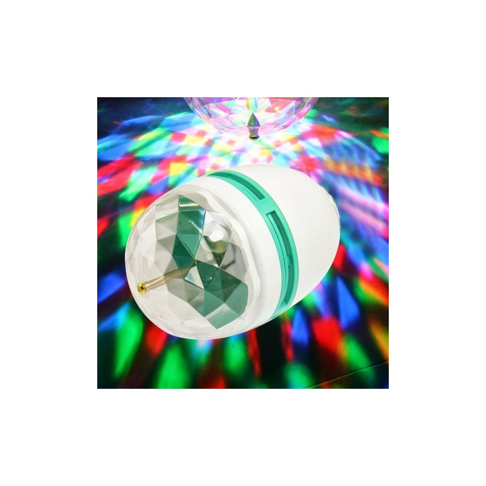 ampoule rgb lampe led 3w e27 jeu tournant de lumi re multicolore disco. Black Bedroom Furniture Sets. Home Design Ideas