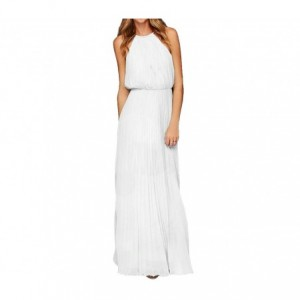 Robe longue plissée pour femme sans manches tailles S à XL