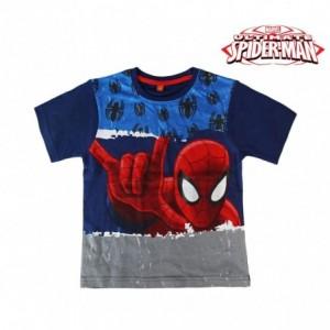 T-shirt enfant SPIDERMAN 2200001951 en coton dans les tailles de 4 à 8 ans