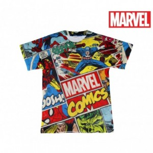 T-shirt enfant MARVEL COMICS 2200001985 perforé parcelle de 6 à 12 ans