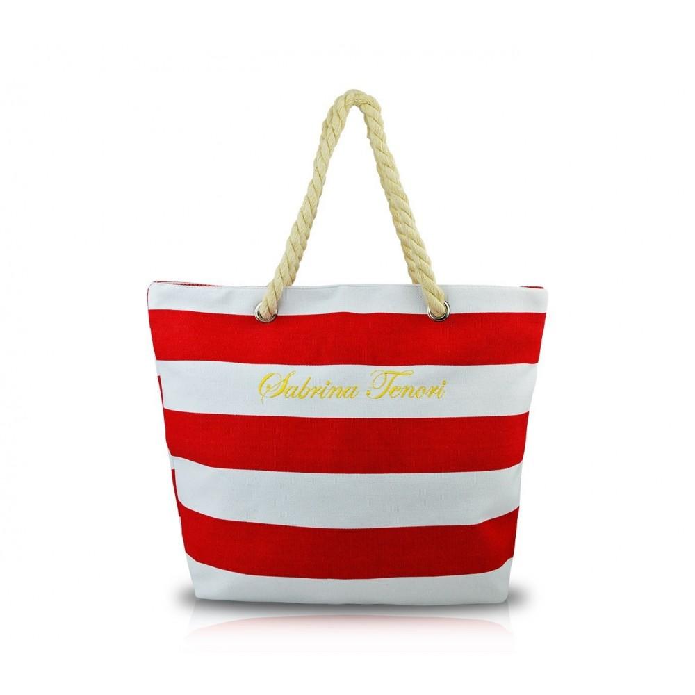 sac de plage sabrina mod le marinaro en tissu avec des poign es en cor. Black Bedroom Furniture Sets. Home Design Ideas
