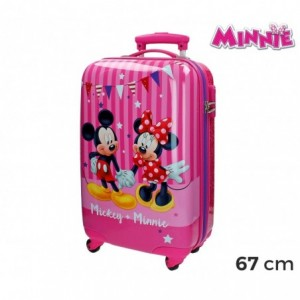 2691551 Valise rigide ABS Minnie et Mickey Mouse 42x67x24cm