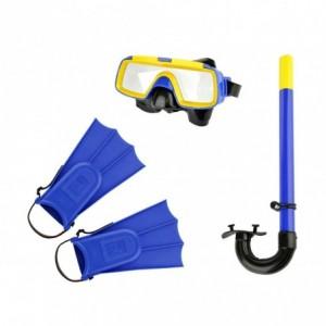Kit masque tuba et palmes pour enfants CIKKECIAK 401079 en trois couleurs