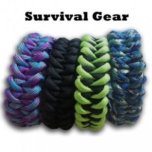 Kit de survie -  bracelet camp de randonnée feu silex sifflet
