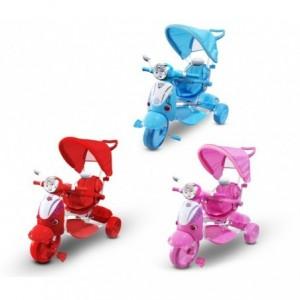 LT 854 Tricycle poussette à pédales pour enfants SPECIAL lecteur Mp3 et capot