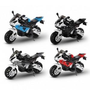 Moto électrique LT832 pour enfants BMW siège en cuir démarrage à clef