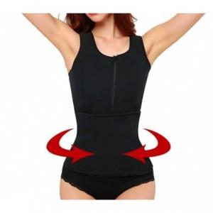 Débardeur sauna fitness avec zip et Velcro effet minceur tailles du S au XXL