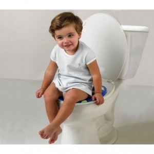 115868 Réducteur de toilettes enfants BABY WC SOFT rembourré et lavable 30x30 cm