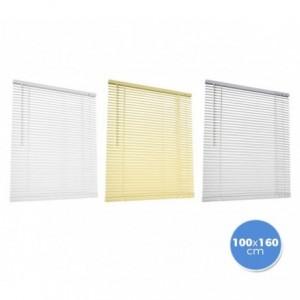 007767 Store vénitien en aluminium 100 x 160 cm pour intérieur rideau
