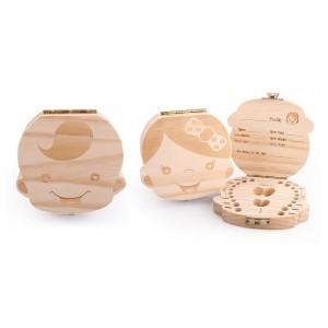 Boîtier en bois 4221 porte dents de lait pour garçon et fille