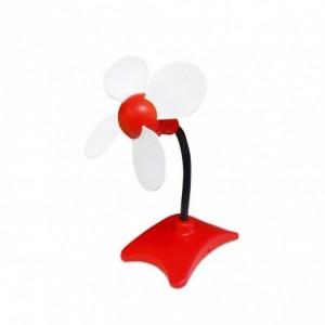 70606 Mini ventilateur USB 4 pales Vinco FLOWER puissance 2W en PVC