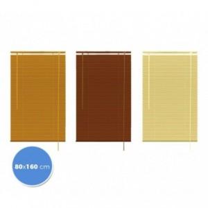 032042 Store vénitien intérieur 80 x 160 cm aluminium avec effet bois