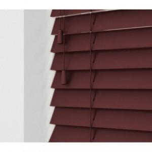 032066 Store vénitien intérieur 120 x 160 cm aluminium avec effet bois