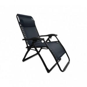 3852022 Set de 4 chaises pliantes et inclinables COVERI COLLECTION couleur noir