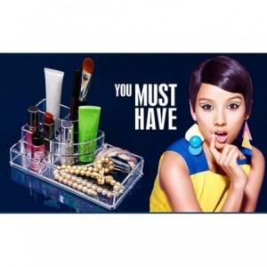 Organisateur de cosmétique maquillage en plastique transparent avec tiroirs