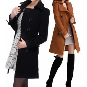 Trench-coat longue coupe classique pour femme PURE à double boutonnage