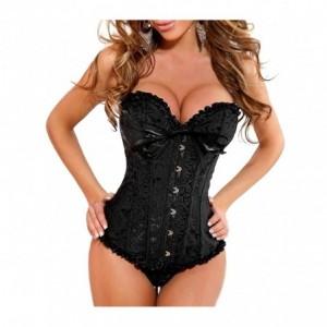 Ensemble de lingerie pour femme corset et string en 3 couleurs