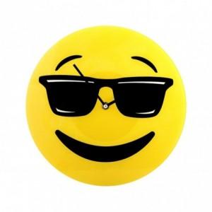 79/3231 Horloge murale en verre émoticône tête avec lunettes de soleil 30 cm ø