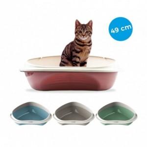 105355 Bac à litière d'angle pour chats SHUTTLE ANGOLARE 49cm plusieurs couleurs