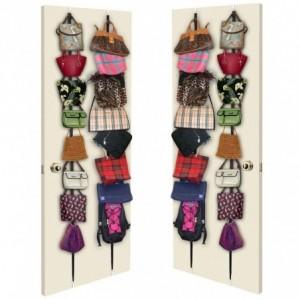Organisateur porte sac 16 crochets pour suspendre le sac foulards et chapeaux