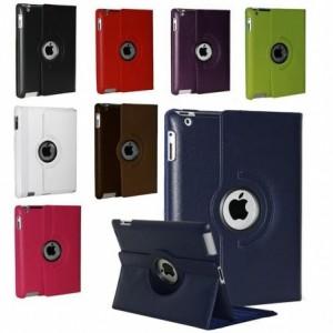 Housse compatible pour iPad Air en cuir synthétique rotation de 360 degrés