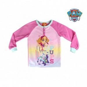 2200002309 Pyjama enfant imprimé Paw Patrol Skye en polaire chaud de 3 à 6 ans