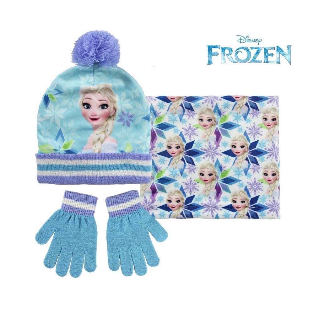 nouveau 2200002445 set dhiver pour enfant la reine des neiges charpe bonnet et gants - Gants La Reine Des Neiges