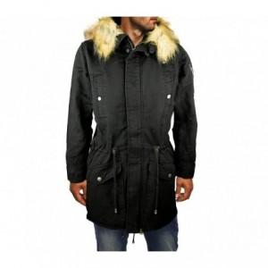 D-201 Parka à capuche pour homme modèle WINTER COOL avec fausse fourrure