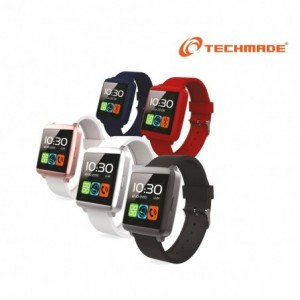 "Smartwatch bluetooth Techmade TechWatchONE mini écran tactile 1.44"" microphone"